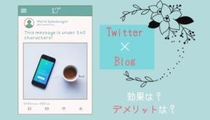 【ツイッター×ブログ】連携で気を付けること|メリット&デメリット